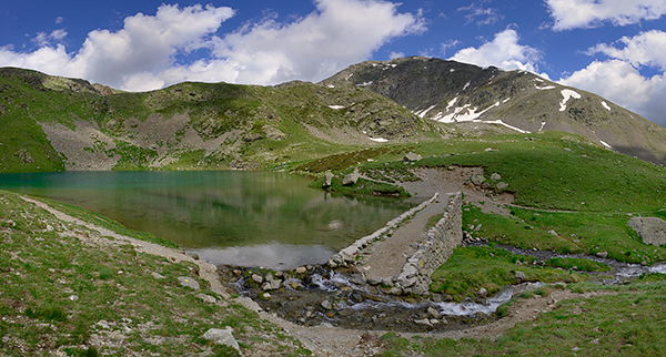 Lac Petit Valley des Milefonts, Mercantour, France
