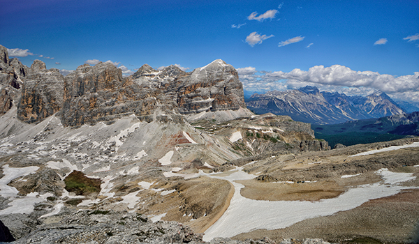 Le Tofane from Falzararego Dolomites
